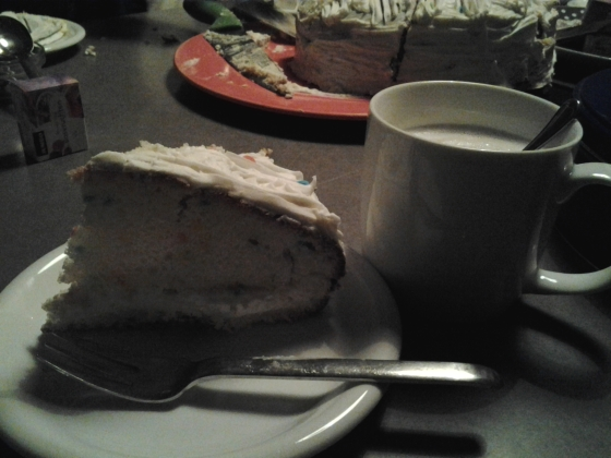 My cake and cappuccino