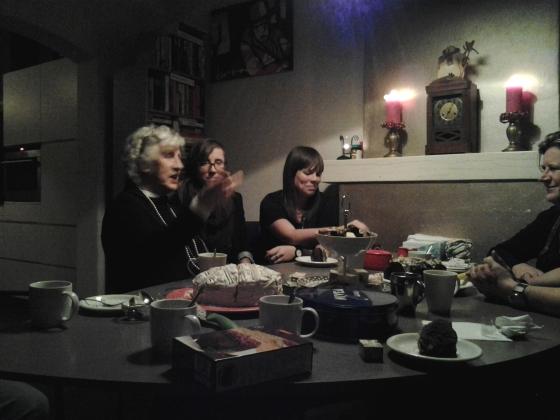Oma, Nikki, Brigiet, and Els