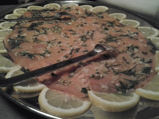 Whiskey marinated smoked salmon