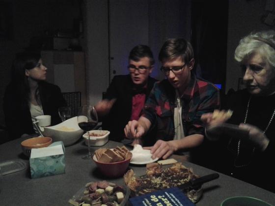 Barbara, Gijs, Sjors, and Oma