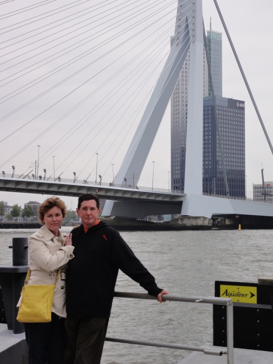 Mom and Dad with the bridge
