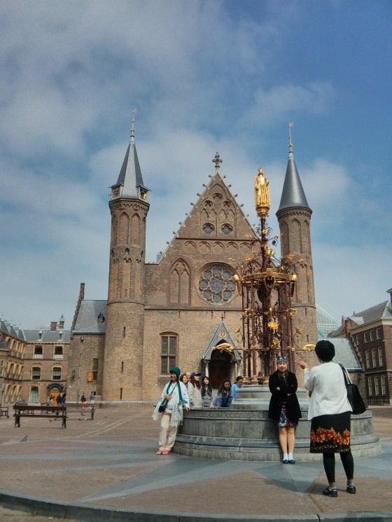 Front view of the Ridderzaal (Hall of Knights) in the Binnenhof