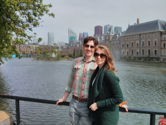 Koen and me in front of the Hofvijver