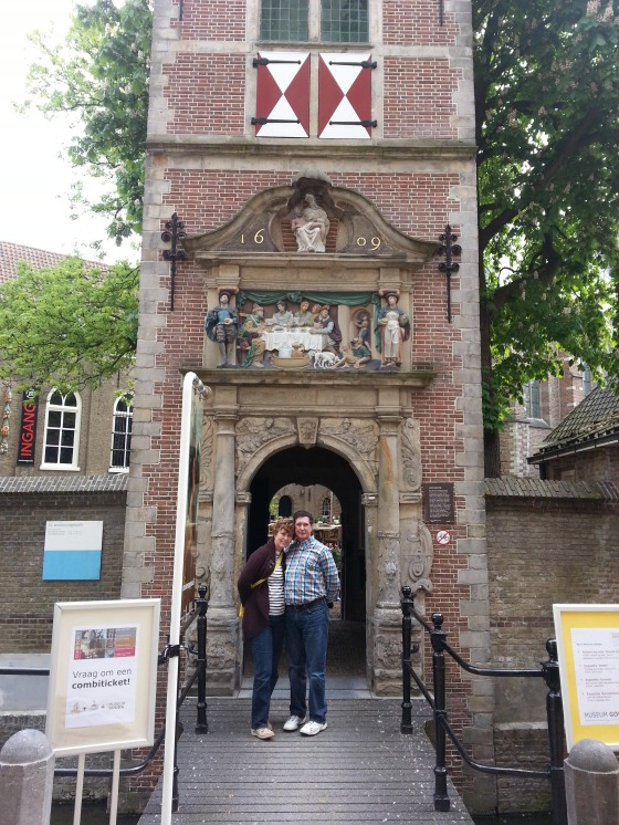 My parents at the Museum Gouda entrance