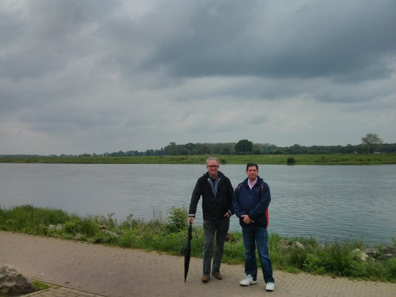 We walked along the Maas River to the Hertog Jan brewery