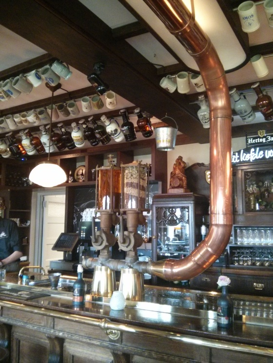 The beer flows through the copper and into the tap for you to enjoy!