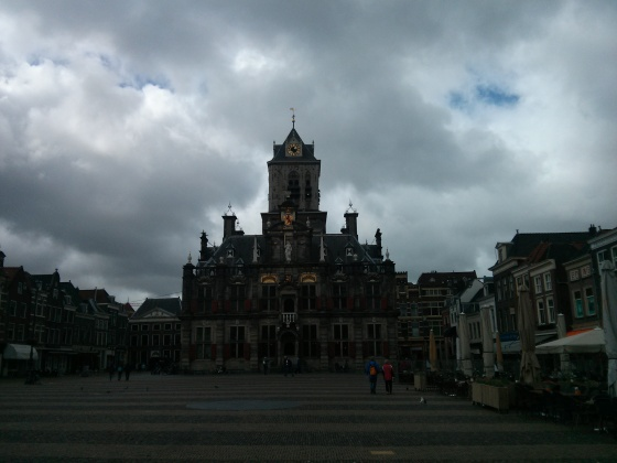 My overcast photo of City Hall on the Markt