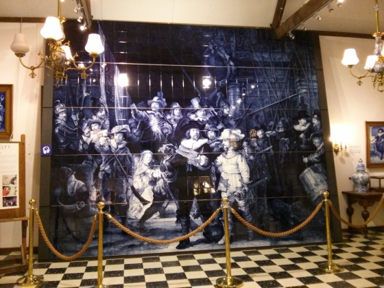 Delftware version of Rembrandt's The Nightwatch (Read below)