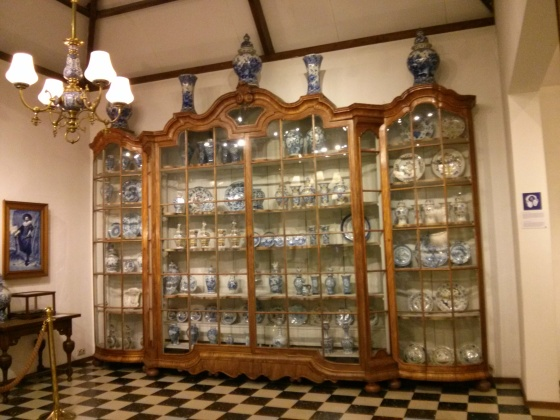 More Delftware inside the museum