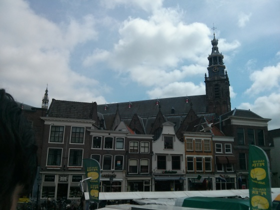 View of Janskerk (15th-16th century), the longest church in the Netherlands, from the steps of Old City Hall