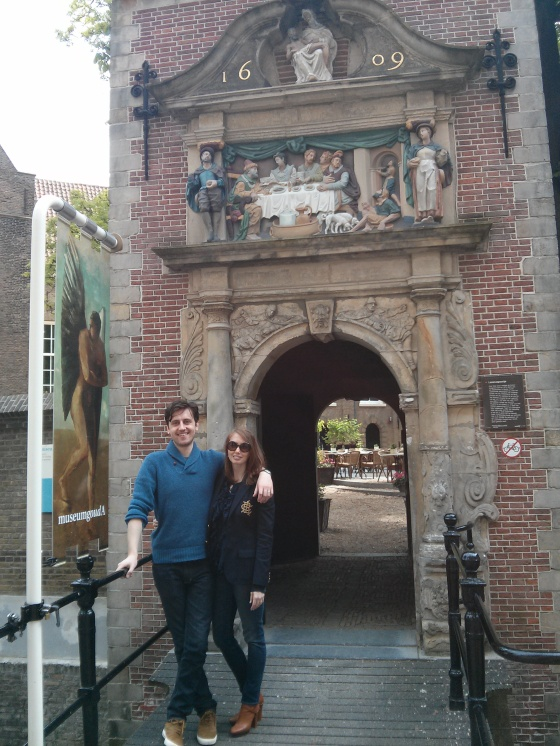 Koen and me at the Museum Gouda entrance
