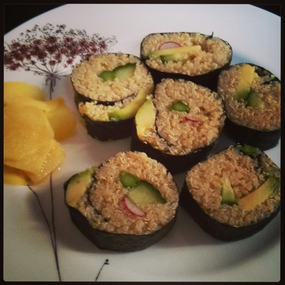 Quinoa Spring Sushi + DIY Quick-Pickled Ginger