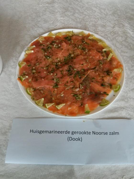 Dook's house-marinated Norwegian smoked salmon