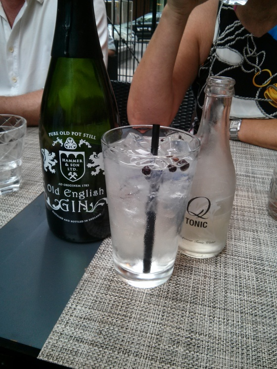 The best gin and tonic I've ever had! And it was served with gin berries!