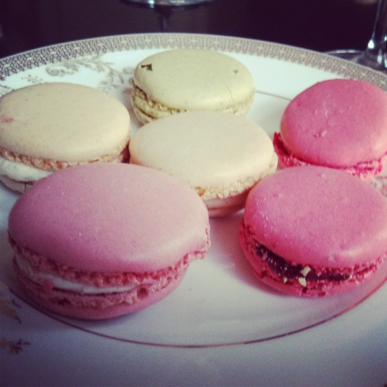 Assortment of macarons, ready to eat!
