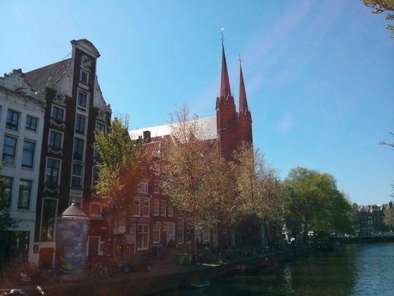 A church on one of the canals