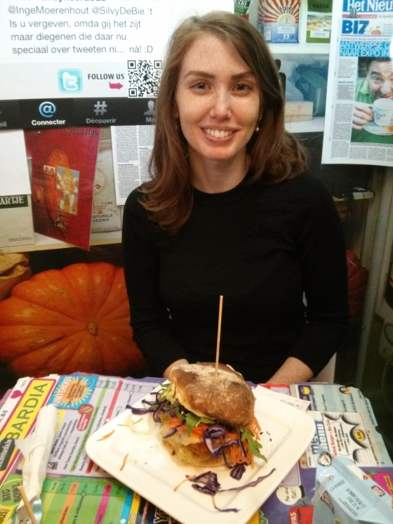 Me with my huge sandwich!