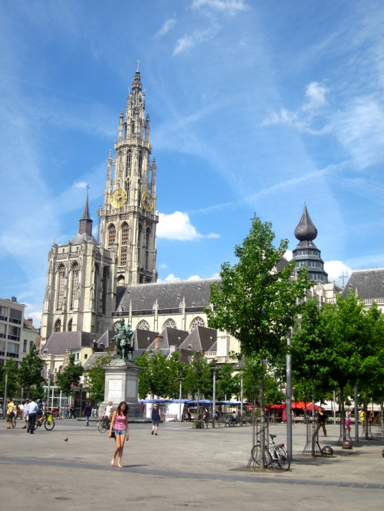 View of the Cathedral from the Groenplaats