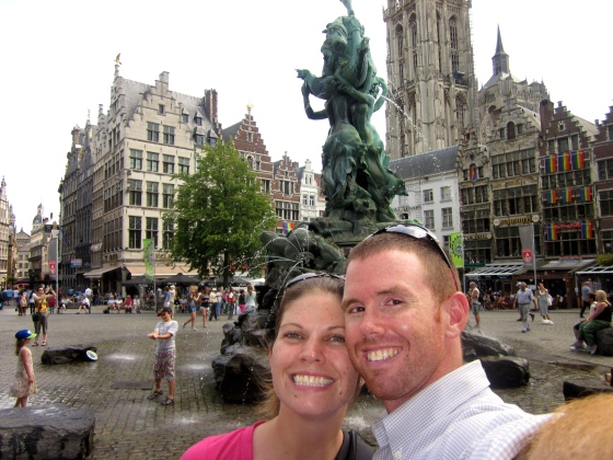 Tamar and Grayson in the Grote Markt