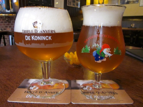 Triple d'Anvers for me, and Mc Chouffe for Grayson