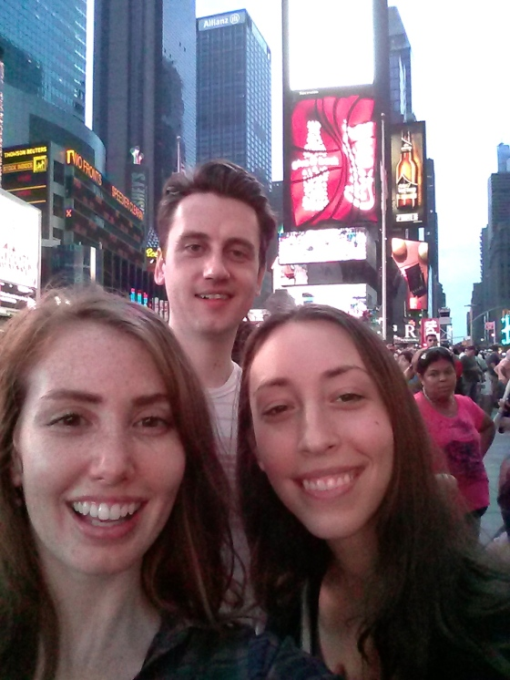 Exhausted, but we made it to Times Square our first evening!