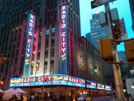 Passed Radio City Music Hall on our way back to the hotel