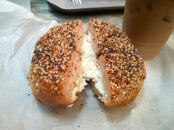 My everything bagel with scallion cream cheese!