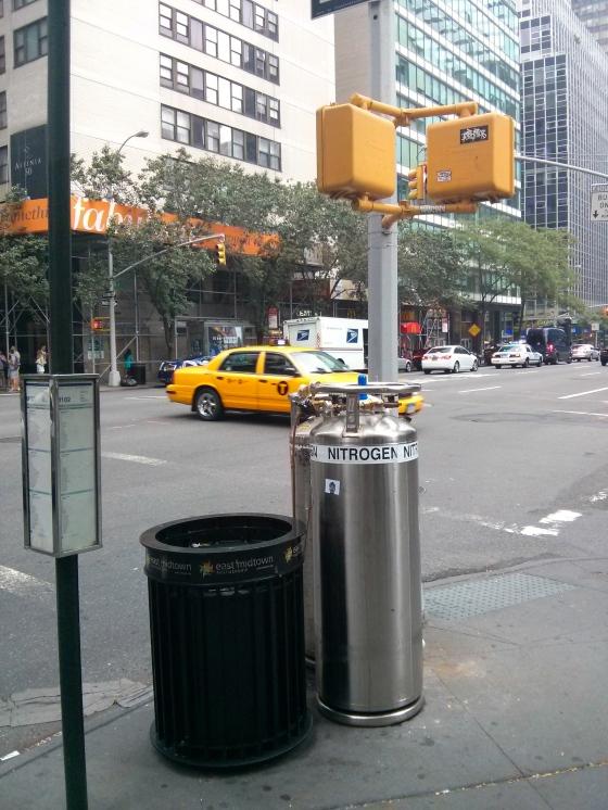 Nitrogen on a street corner?