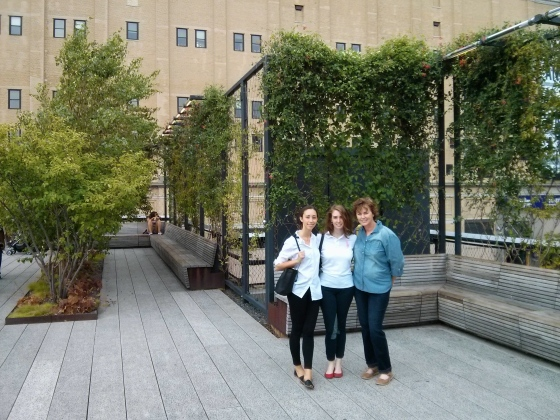 Christina, my mom, and me on the Highline