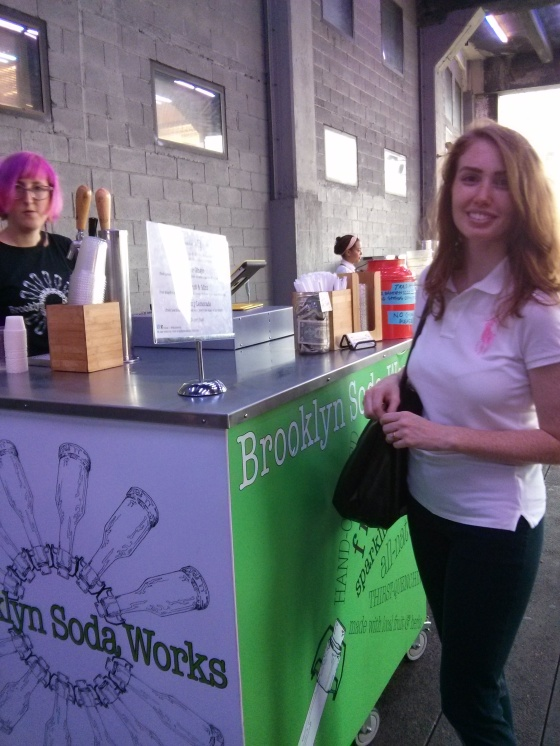 Time for lunch! First an apple ginger soda from Brooklyn Soda Works!