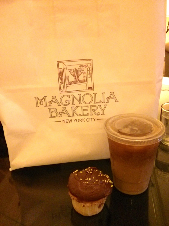 Breakfast of champions! Cupcakes and iced coffee..yum!