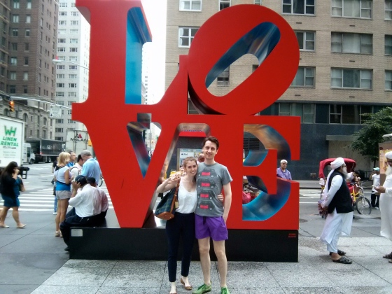 Koen and me with Robert Indiana's Love sculpture