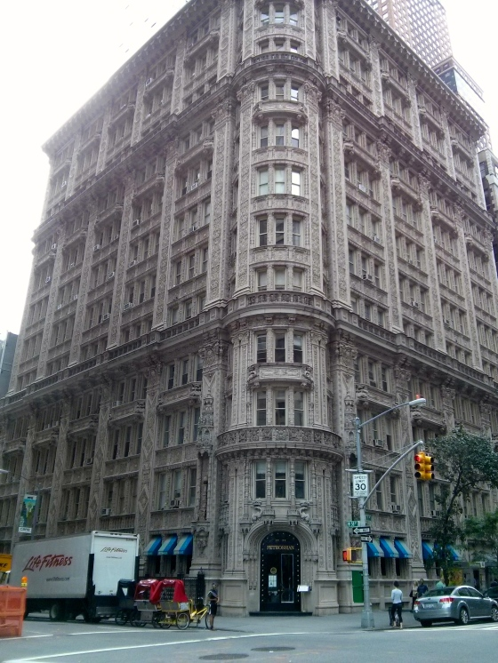 Beautiful building in Midtown on our way to Central Park