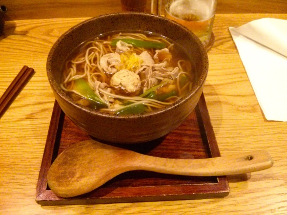 Koen's soup with soba noodles and vegetables