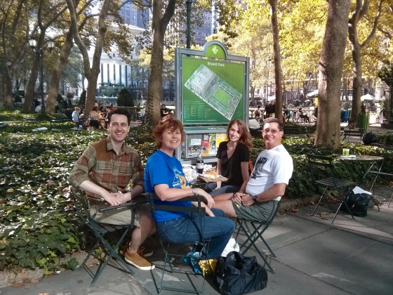 Breakfast in Bryant Park
