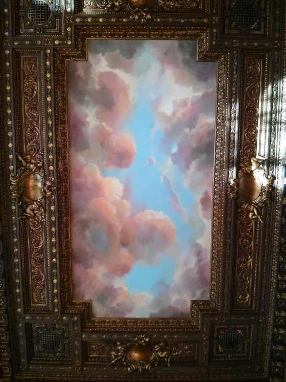 Closeup of one of the sky ceilings