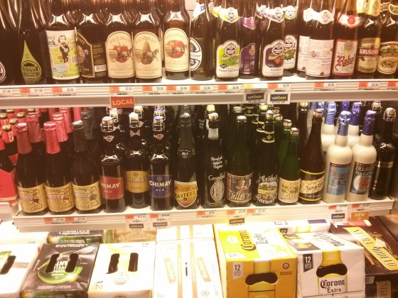 So many Belgian beers in Whole Foods!