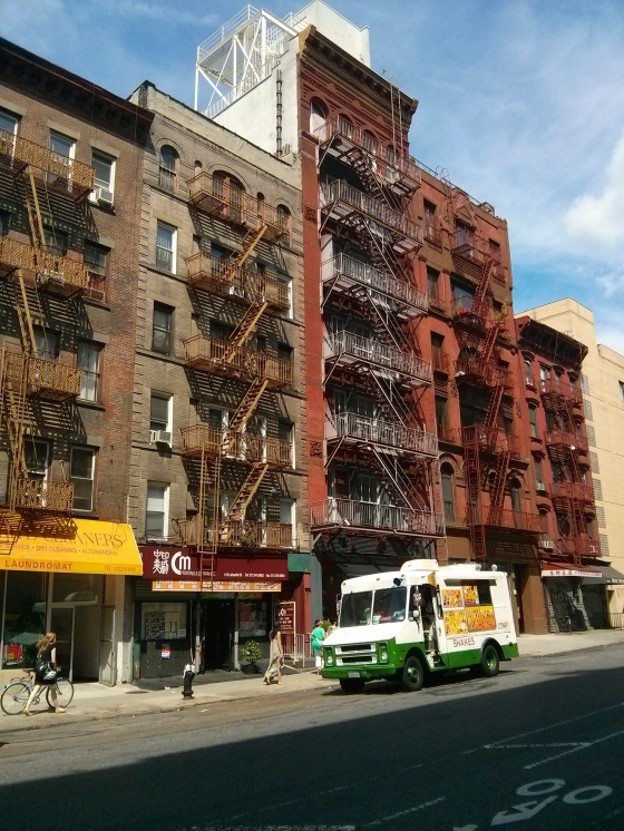 Walking through Chinatown to Greenwich village - so NYC to me with the fire escapes