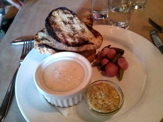 Koen's Pork Rillette with Pickles & Mustard
