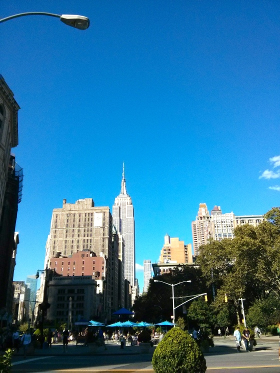 View of the Empire State Building in the Flat Iron District