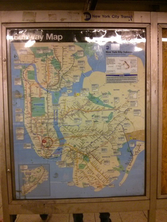 Taking the Subway to Lower Manhattan, to the Financial District