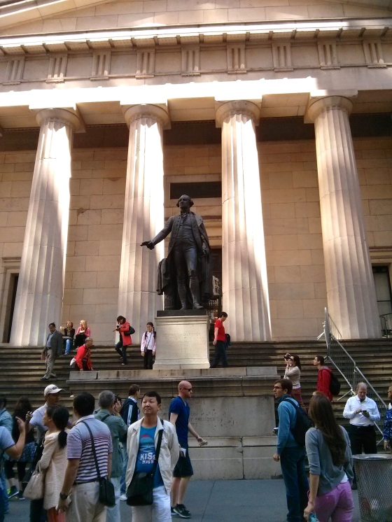 Federal Hall, the nation's first capitol building and the place where George Washington was inaugurated as the first president of the United States of America