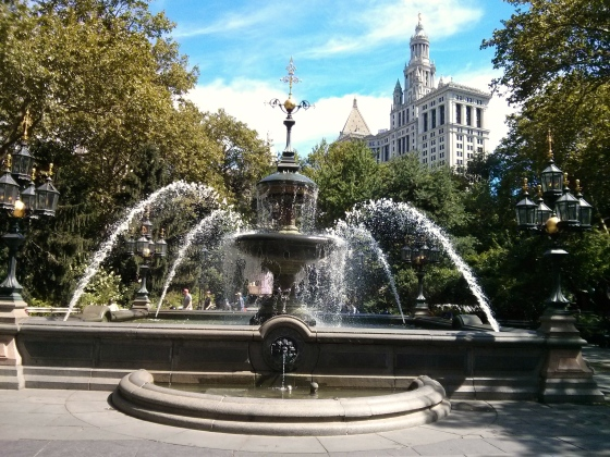 City Hall Park, facing City Hall