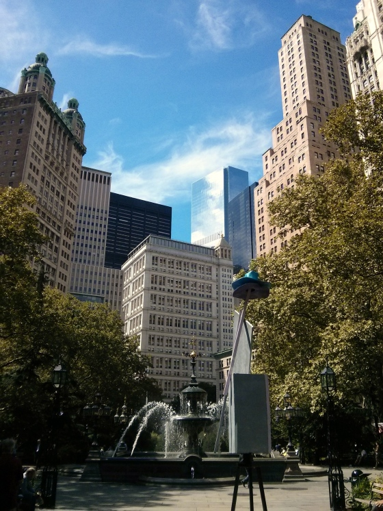 City Hall Park facing south