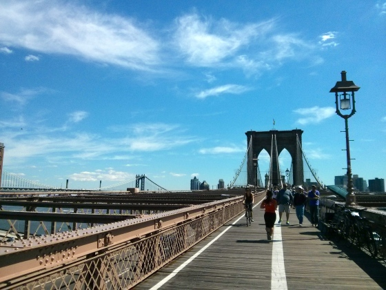 Walking toward Brooklyn