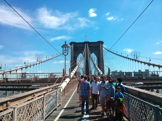 Middle of the Brooklyn Bridge