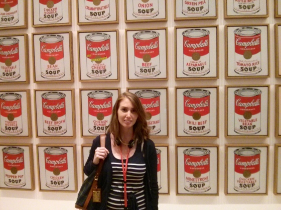 Me in front of Campbell's Soup Cans, Andy Warhol 1962