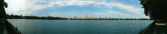Jacqueline Kennedy Onassis Reservoir in Central Park, facing west