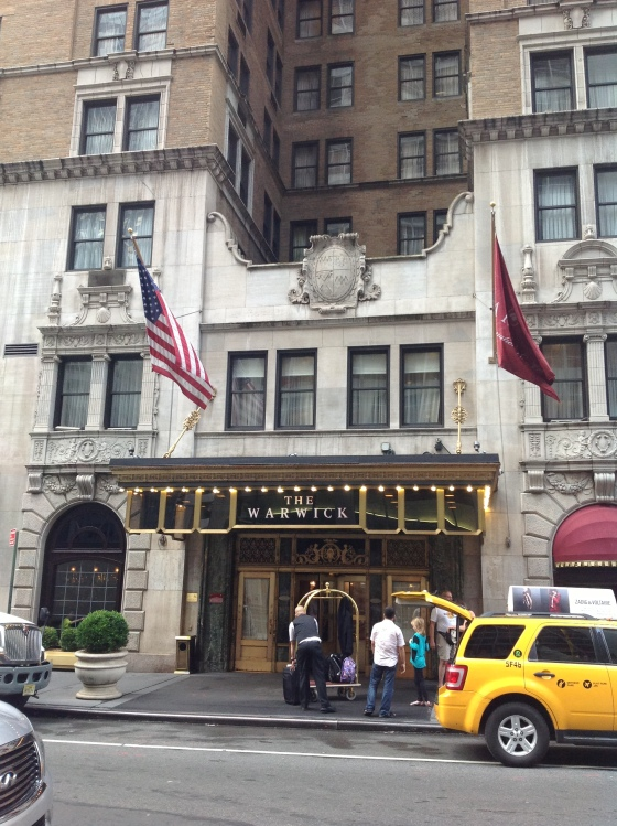 Warwick Hotel on 6th Avenue (Avenue of the Americas) in Midtown, our home for the first 4 days!