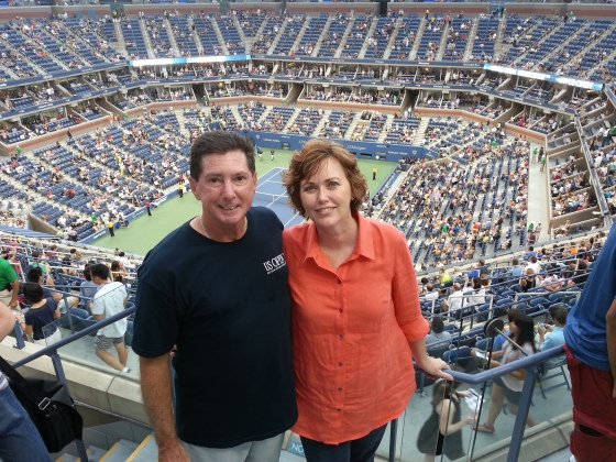 While we were out exploring, my parents were at the US Open!